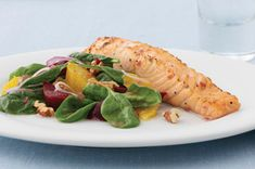 Raspberry-Marinated Salmon Fillet recipe