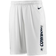Women's Dallas Cowboys Nike White Warpspeed Pacer Performance Shorts