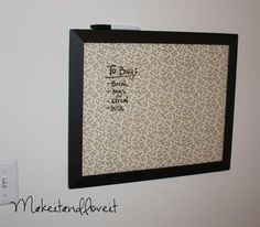 Picture frame scrapbook paper dry erase board