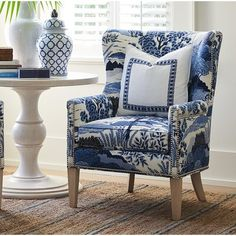 Muebles Living, Eames Chairs, Dining Chairs, Room Chairs, Office Chairs, Dining Room, Blue Chairs, Wing Chair, Chair Upholstery