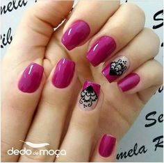New nails acrilico rojas ideas Nail Tip Designs, Pretty Nail Designs, Colorful Nail Designs, Acrylic Nail Designs, Oval Nails, Toe Nails, Bella Nails, Nail Polish Art, Classy Nails