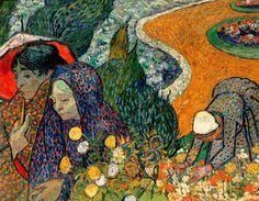Ladies of Arles, Vincent van Gogh  1888