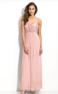 pretty blush bridesmaid dress from nordstrom #nordstromweddings