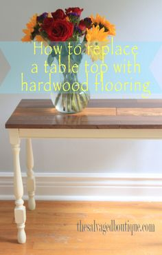 hardwood floor table