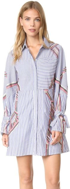 Tanya Taylor Embroidered Menswear Stripe Charlee Dress #Embroidered edges add a pop of color… - https://www.luxury.guugles.com/tanya-taylor-embroidered-menswear-stripe-charlee-dress-embroidered-edges-add-a-pop-of-color/