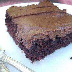 Zucchini Brownies {Butter-less and Egg-less!}