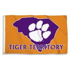 Clemson Tigers  Flag CU Purple Large 3x5