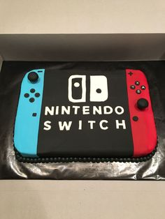 Nintendo Switch with Neon Blue and Neon Red Joy-Con (Discontinued by Manufacturer) Birthday Cake Video, Mario Birthday Cake, 9th Birthday Parties, Birthday Games, Wedding Parties, 8th Birthday, Nintendo Cake, Nintendo Party, Video Game Cakes