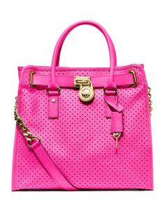 MICHAEL Michael Kors  Large Hamilton Perforated Saffiano Tote.