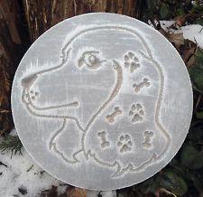 plastic plaque Dog Mold  plaster concrete casting garden ornament mould