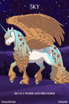 sky is a rare horse she is a water and fire hybrid NOT FOR ADOPTION