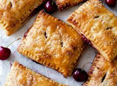 Simple Cherry Pastry Pies made with puff pastry