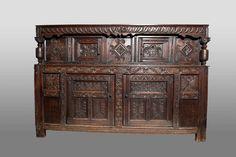 Gothic Furniture, Antique Furniture, Antique Cupboard, First Period, Cupboards, Pilgrim, 16th Century, Dark Wood, Palace