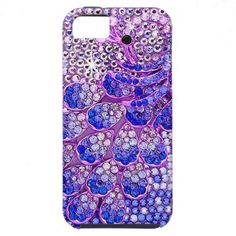 Girly Pink and Purple Peacock Bird Photo Print iPhone 5 Case