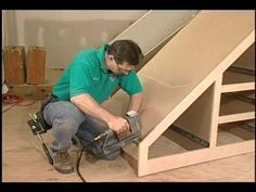 Building Storage Spaces Part How to build storage space under your Stairs. store games for the rec room.
