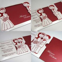 Coisas da Deinhah: Convites de casamento