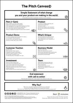 Service Design Network - The PItch Canvas Business Canvas, Change Management, Business Management, Business Planning, Business Tips, Business Proposal, Business School, Brand Management, Business Education