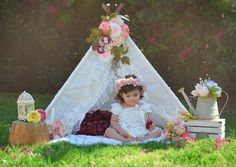 TEEPEE TOPPER floral banner garland by SugarShacksTeepee on Etsy