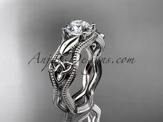 platinum diamond celtic trinity knot wedding ring, engagement ring CT7382