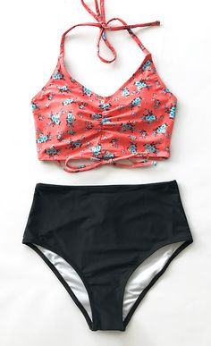 Take up your swimsuit and travel to sea, to escape busy work and noisy city. Bring Cupshe with you! It features glamorous desgin and comfort. Halter & high-waisted & cute red floral prints. Free shipping! Check it out~