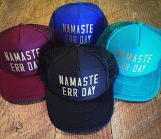 545b3b209d43f NAMASTE ERR DAY snapback trucker hat w matte gold by everfitte Trucker Hats