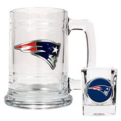 NFL New England Patriots Boilermaker Set Primary Logo * Check out this great product.