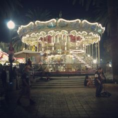 Carousels in the night