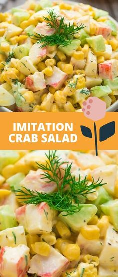 Imitation Crab Salad – quick and easy crab salad made with crunchy cucumbers, sweet corn, and hard-boiled eggs. Perfect for lunch, dinner, or on a sandwich! FOLLOW Cooktoria for more deliciousness! If you try my recipes - share photos with me, I ALWAYS check!
