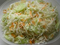Low Carb Recipes, Healthy Recipes, Czech Recipes, Salad Dressing, Eating Well, Cabbage, Good Food, Food And Drink, Vegetarian