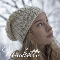 Muskotti myssy | Vanillawool Beanie Hats, Knitted Hats, Knit Crochet, Diy And Crafts, Winter Hats, Knitting, Villas, Fashion, Caps Hats