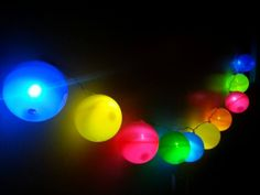 Ball Pit Lights These beautiful upcycled ball pit lights are a shot of colour to any bedroom be it a child's or adult's bedroom.  Made from upcycling the balls found in children's ball pits, I have inserted a string ...