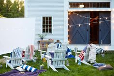 Screen a summer movie in your backyard with friends and family, snacks and, of course, all the comforts of home!