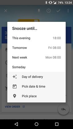 Google Inbox Snooze Until...