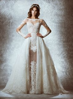 Zuhair Murad Bridal Collection Fall 2015...I'm getting married again so I can wear this dress...it's beyond amazing! with a detachable train. #weddingdress #zuhairmurad #bridal |@ammaraza