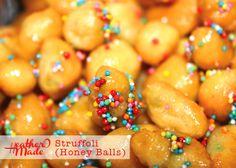 Strufoli (honey balls).A traditional Italian Christmas dessert.