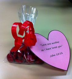 Valentine's Day treat that I made for the children in my Sunday school class. :)