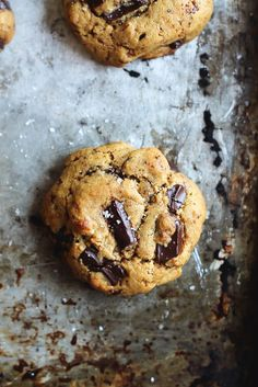 These Chickpea Flour Chocolate Chip Cookies are addicting in the best way. They're dairy free, gluten free, grain free and may just be the best cookies ever.