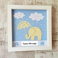 Personalised Baby Elephant Frame - Nursery