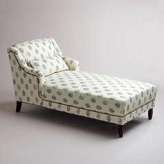 Black & White/Cream Kanta Chaise Lounge Sofa by CherryMoonBlossom, $350.00