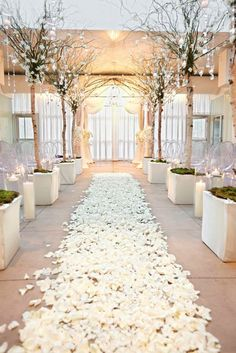 Green Wedding Ideas: Decorating With Trees #saphireeventgroup #saphireestate #thevilla #greenweddingideas #ceremonyaisle
