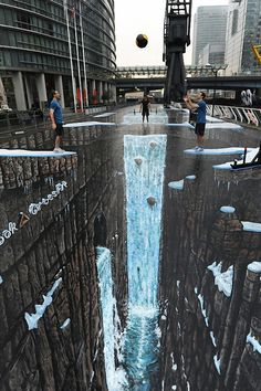 Awesome street art illusion