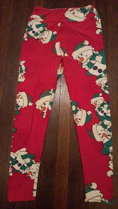 050febea765acf LuLaRoe Rare, Exclusive Christmas SNOWMAN leggings! OS EUC #LuLaRoe