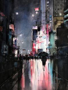All eyes on you – Maria Cornea Watercolor Paintings, Watercolors, Watercolor Ideas, Sketch Painting, City Art, All About Eyes, Artist Art, Online Art Gallery, Landscape