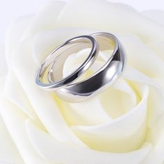 This Simple Sterling Silver Matching Couple Rings Set are made from genuine 925 sterling silver. The high polished design makes the rings resistant to wear. The classic dome design provides a comfortable wearing experience.