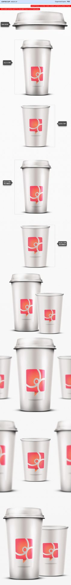 INFO The pack includes 8 amazing Coffee Cup Mock Ups for you to use. Everything is fully customisable and easy to use. It offers a highend effect on your lable design, but it also can be used to display logos and other designs. All you have to do is change the image inside the REPLACE ME ! smart object and you are done. For more informations please contact me at nechitapaulflavius@gmail.com Thanks for purchasing and don't forget to rate!