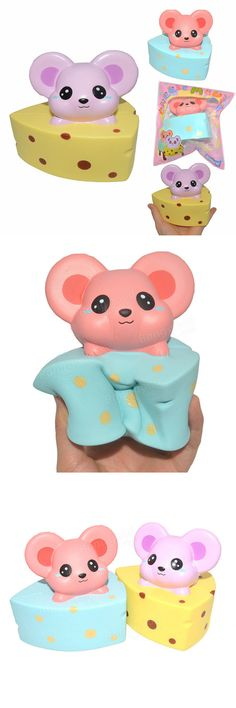 Kiibru Squishy Cheese Mouse 10cm Slow Rising Original Packaging Collection Gift Decor Toy