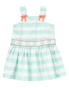 Striped Bow Dress at Gymboree