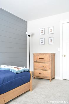 DIY Boy Bedroom Makeover from Bitterroot DIY | boy room ideas, boy room inspiration, baby boy room