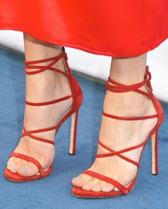 Kelsea Ballerini in strappy high heel sandals
