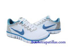 new concept 48616 ff2c7 Mujer Nike Free 3.0 V2 Zapatillas (color   empeine y suela - blanco , en